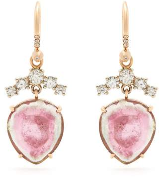 Irene Neuwirth Diamond, tourmaline & rose-gold earrings