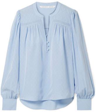 465a6baffd235 Veronica Beard Abbie Silk-satin Jaquard Blouse - Light blue