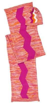 Missoni Wool-Blend Hat & Scarf Set w/ Tags