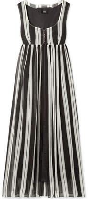 Marc Jacobs Striped Silk-georgette Maxi Dress