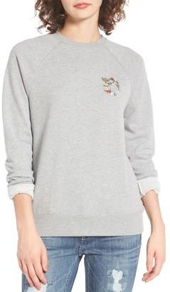Women's Obey Flora Liberte Crewneck Sweatshirt $66 thestylecure.com