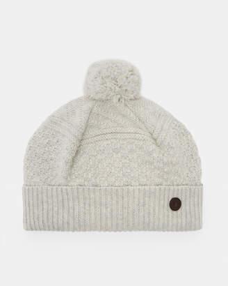 b9cd0cef009 Ted Baker MULTHAT Multi stitch cashmere hat