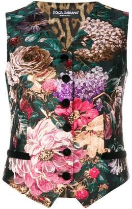 Dolce & Gabbana floral print vest