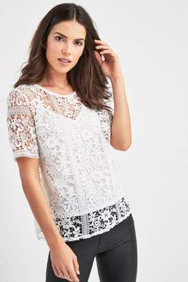 f3228ff503347 White Lace Top - ShopStyle UK