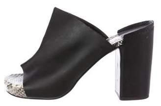 Robert Clergerie Leather Slide Sandals