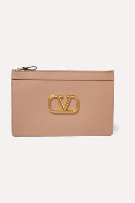 Valentino Garavani Vring Large Leather Pouch - Pink