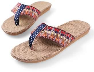 Aerusi Dark Flax Straw Flip Flop Sandals Flip Flop Sandals