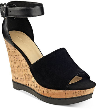 Marc Fisher Hillory Two-Piece Platform Wedge Sandals $79 thestylecure.com