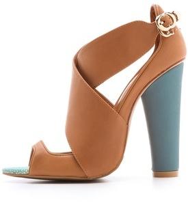 Cynthia Rowley Leather Crisscross Sandals