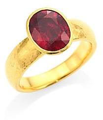 Gurhan Women's Rainbow One of a Kind 24K Yellow Gold & Rhodalite Ring