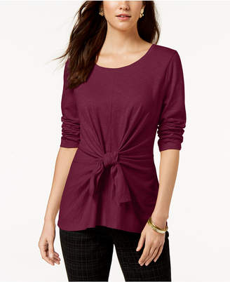 Style&Co. Style & Co Petite Tie-Front Top, Created for Macy's