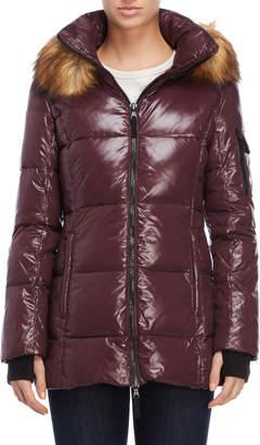 S13 Gramercy Faux Fur Trim Down Coat