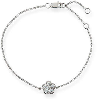 Roberto Coin 18k White Gold Diamond Flower Bracelet