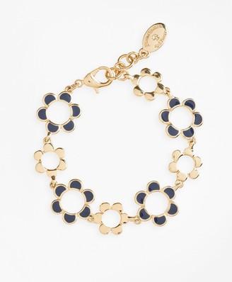 Brooks Brothers Enameled Floral Bracelet