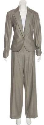 Lafayette 148 Wool Pinstripe Pantsuit