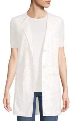 St. John Floral Jacquard Vest