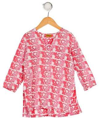 Roberta Roller Rabbit Girls' Printed V-Neck Top
