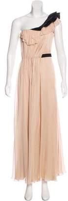 J. Mendel Silk One-Shoulder Dress