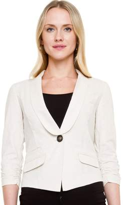 Le Château Women's Linen Blend Shawl Collar Blazer,XL
