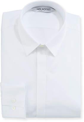 Neil Barrett Modernist Mixed Texture Dress Shirt