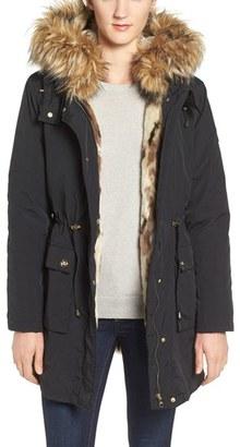 Women's Steve Madden 'Taslon' Parka With Faux-Fur Trim Hood $198 thestylecure.com