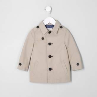 River Island Mini boys beige mac coat