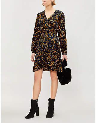 Maje Abstract-print crepe dress