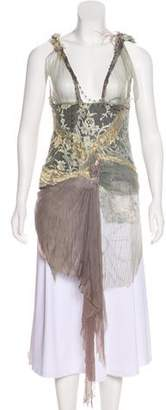 Couture Trash Embellished Silk Top w/ Tags
