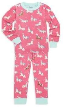 Hatley Little Girl's& Girl's Two-Piece Print Pyjamas