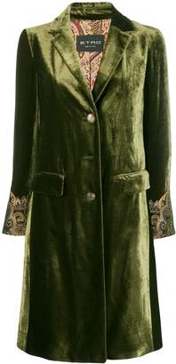Etro embroidered cuff coat