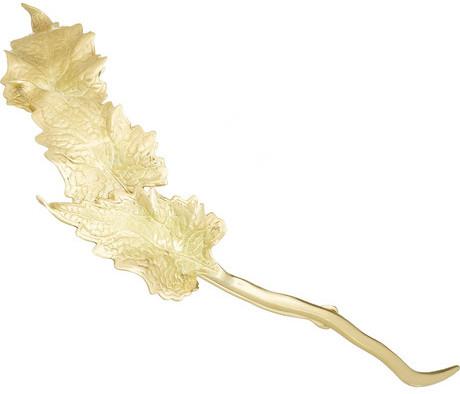 Ana Khouri Leaf 18-karat gold hair pin