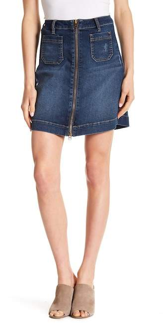 JAG Jeans Mccamey Zip Front Denim Skirt