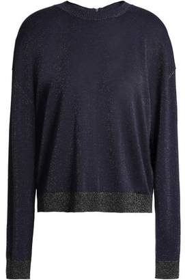 Just Cavalli Metallic Wool-blend Sweater