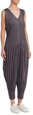 Pleats Please Issey Miyake Sleeveless Pleated Jumpsuit