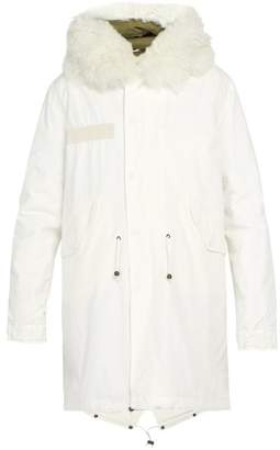 Mr & Mrs Italy Hooded Cotton Canvas Parka - Mens - White