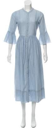 Ulla Johnson Pinstripe Midi Dress