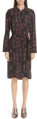 Etro Dancing Print Silk Dress