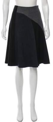 Derek Lam Virgin Wool Colorblock Skirt