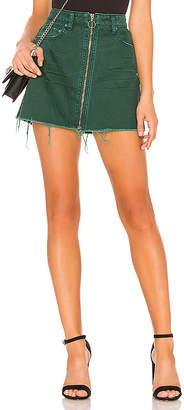 Free People Zip It Up Mini Skirt