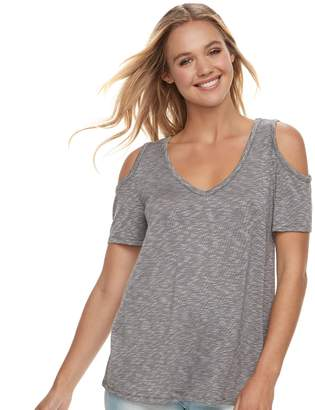 So Juniors' SO Knit Cold-Shoulder Tee