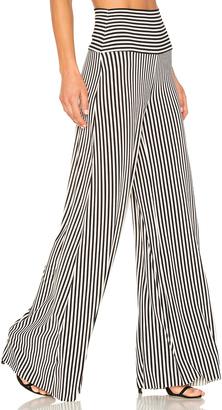 Norma Kamali Vertical Stripe Elephant Pant $165 thestylecure.com