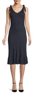 Club Monaco Richenda Sleeveless Ribbed Dress