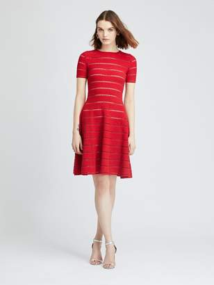 Oscar de la Renta Red Knit Dress