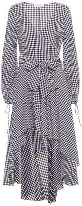 Caroline Constas Lena checked cotton dress