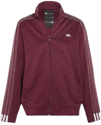 Adidas Originals By Alexander Wang - Embroidered Stretch-jacquard Jacket - Merlot $230 thestylecure.com