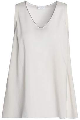 Brunello Cucinelli Bead-Trimmed Stretch-Silk Top