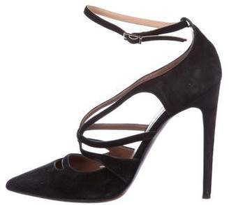 Tabitha Simmons Suede Pointed-Toe Pumps