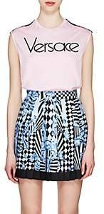 Versace Women's Logo-Print Cotton Jersey Tank - Pink