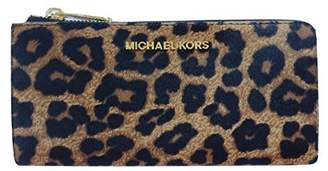 Michael Kors Bedford Large Three Quarter Zip Around Haircalf Wallet