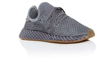 adidas Unisex Deerupt Runner Net Low-Top Sneakers - Big Kid